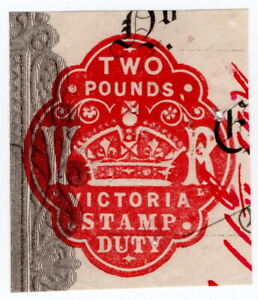 (I.B) Australia - Victoria Revenue : Impressed Duty £2