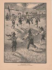 "Tiroler ""grasausläuten"" nel Tirolo bambini con campane pressione di 1901"