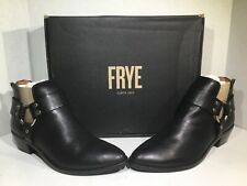 Frye Womens Size 8 Ray Harness Back Zip Black Leather Ankle Booties ZC-476