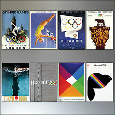 Olympic games posters vintage collectable fridge magnets 8 Olympic sports magnet