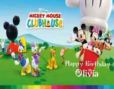 Mickey Mouse Clubhouse Edible Cake Image Topper Your Personal Message Birthday