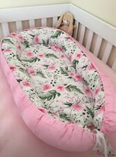 Baby Nest for Newborn Girl Pink Sleeper Co Travel Bed Floral Crib Bedding