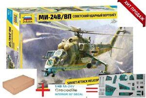 4823+3DR   Mi-24 V / VP  Zvezda 1/48===Repack + 3D decale 48026 KIT++