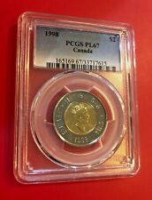 1998 $2 PCGS PL 67 CANADA TOONIE COIN PROOF HIGH GRADE