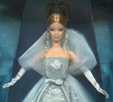 2001 Barbie doll NRFB Christmas Happy Holidays aquamarine dress