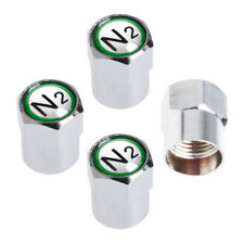 4pcs Universal Chrome Car TPMS Valve Stem Caps N2 Nitrogen Tire Insert Cover