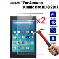 2x Genuine Tempered Glass Screen Protector For Amazon Kindle fire HD 8 2017 8.0