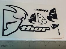 2 Thor Motocross Decals Stickers White Black Clear Small Cards * Free Shipping