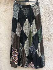 Jupe longue bohème patchwork T U 36/38/40 vintage com neuve