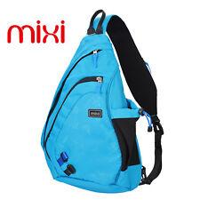 """Mixi 17"""" Men Chest Bag Sling Single Shoulder Strap Pack Bag Leather Travel Bag"""