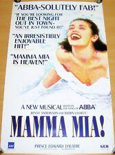 MAMMA MIA ABBA STUNNING PROMO POSTER FOR THE PRINCE EDWARD THEATRE LONDON 1999