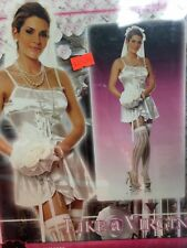 #12 New Electric 2PC Like a Virgin Costume One Size Fits Most