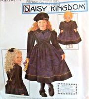"DAISY KINGDOM Pattern 8914 OOP Girls Dress 18"" Doll Dress 3 4 5 6 UNCUT"