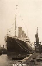 More details for white star liner ss titanic at southampton unused rp old postcard