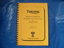 Triumph T120, TR6, livre de pièces pour modèles 1968