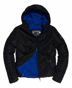 "Superdry Men's Xenon Padded Jacket Black Size XL 42"" (107cm) RRP £79.99"