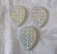 13 mm AB Crystals Flatback Drop Rhinestones Glue On Crystals Stones 8