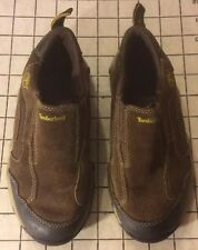 Timberland Leather Brown Hiking Shoes Kids Sz 12.5 Sports Outdoor Casual Slip On