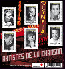 Feuillet F4605 - Les grands noms de la chanson française - 2011