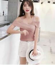 KNITTED OFFSHOULDER TOP (DZ) Pink
