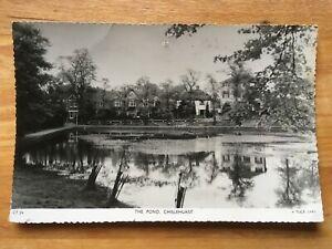 THE POND, CHISLEHURST Vintage Tuck's Real Photograph Postcard