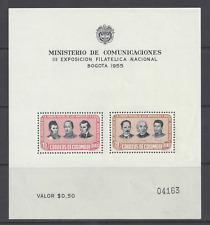 More details for  colombia  air 1955  seventh postal union congress souvenir sheet mnh. sg ms861