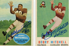 Cleveland Browns Bobby Mitchell signed 1960 Topps card