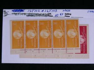 United States Sc.# 16T102 & 16T103  Western Union Bklt Panes  1940   MNH   s823
