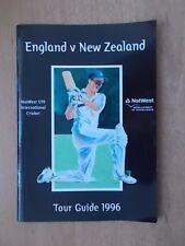 ENGLAND v NEW ZEALAND U-19 CRICKET TOUR GUIDE 1996