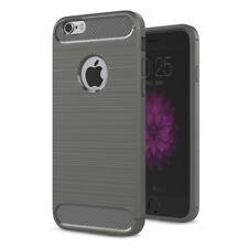For iPhone 6 & iPhone 6S Case - Hybrid Shockproof Soft TPU Carbon Fiber Cover