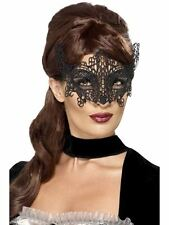 Embroidered Lace Filigree Swirl Eyemask, One Size, Eyemasks, Fancy Dress #AU