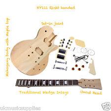 L.P D.I.Y Guitar Kit HY111 Wedge inlays / Mahogany Body Top UK Stock Quick Del