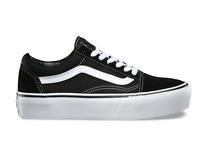 Vans Men & Women Old Skool Platform Skate Shoes Black/White VN0A3BUY28