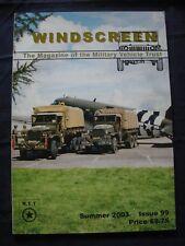 MILITARY VEHICLE TRUST - WINDSCREEN #99 - Summer 2003 - Morris C8