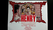 HENRY: PORTRAIT OF A SERIAL KILLER rare original mini-poster/flier