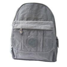 Unisex Pequeño mochila Bag Street bolso de hombro Niño mujer nailon viajes gris
