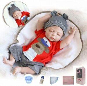 "20"" Ganzkörper Silikon Vinyl Reborn Baby Doll Neugeborene Schlafen Junge Puppe"