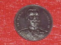 [Coll.J.DOMARD] TSAR NICOLAS II & FELIX FAURE PARIS 1896 MEDAILLE ANCIENNE Russi
