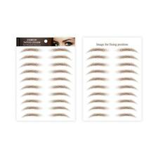 10 Pairs 4D Hair-Like Brown Authentic Eyebrows Grooming Shaping Makeup Y6F2