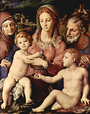 Perfect Oil painting Holy Family - Madonna & child St. John the Baptist canvas