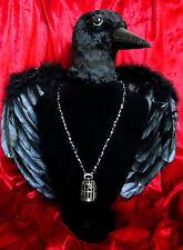 Birdcage time necklace! beaded rosary clock fob pocket watch bird cage birds
