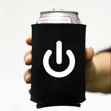 Power On Koozie Can Computer Koolie Cooler Insulator Geek Nerd Hacker Beer Soda