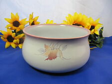 "DENBY Langley TWILIGHT LEAVES Round Vegetable Serving Bowl  7"" HTF"