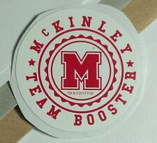 GLEE GLEEK MCKINLEY TEAM BOOSTER RED WHITE TV STICKER