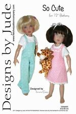 """So Cute Overall & Skirtall Doll Clothes Sewing Pattern 12"""" Bethany Kish"""