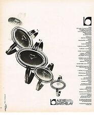 PUBLICITE  1975   ALEXIS  BARTHELAY  montres