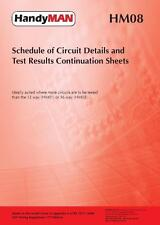Metrel HM08 Schedules Of Inspection & Circuit Test Results (Was MET02)