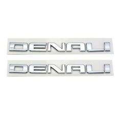 2x GMC DENALI Emblem Chorme Front Door/Rear Tailgate Badge Sign Symbol Letters