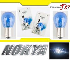 Nokya Light 1156 White 21W Nok5207 Two Bulbs Rear Turn Signal Replace Stock Lamp