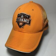 Houston Dynamo MLS Orange Official hat by Adidas Climalite flex  S/M